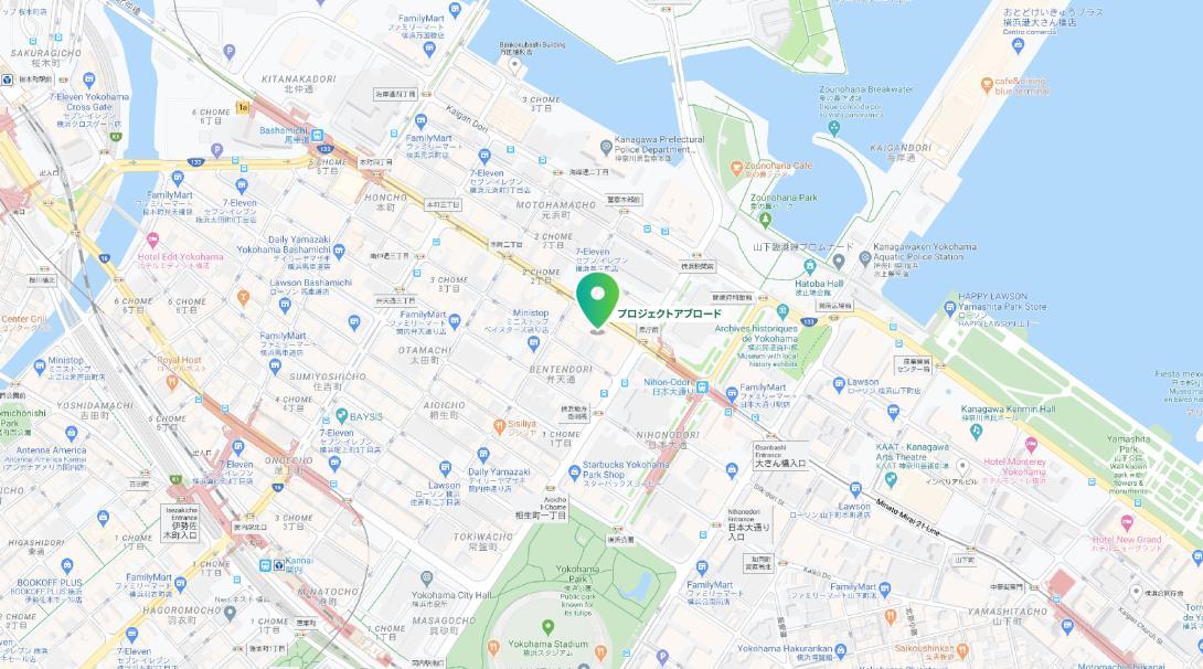 プロジェクトアブロード日本支店の所在地